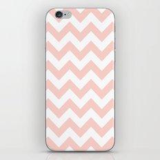 Peach Chevron Pattern iPhone & iPod Skin