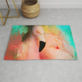 Colorful Expressions Flamingo Rug
