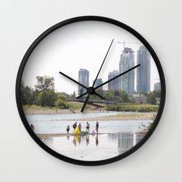 St. Patrick's Island river scene Calgary Wall Clock
