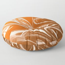 Copper Swirl - Copper, Bronze, gold and white metallic effect swirl pattern Floor Pillow