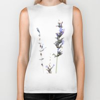 lavender Biker Tanks featuring Lavender by Renee Ansell