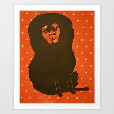 Self Portrait no. 1 (polka dots) Art Print