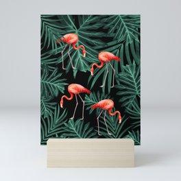 Summer Flamingo Jungle Night Vibes #2 #tropical #decor #art #society6 Mini Art Print