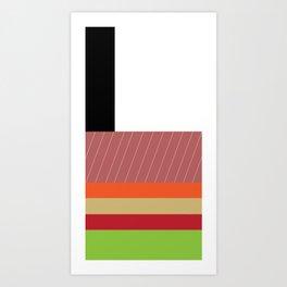 sushi mondrian Art Print