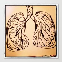 lungs Canvas Prints featuring lungs by Fresh