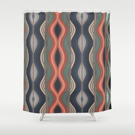 Colored waves Shower Curtain