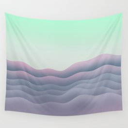 iso mountain sunset Wall Tapestry