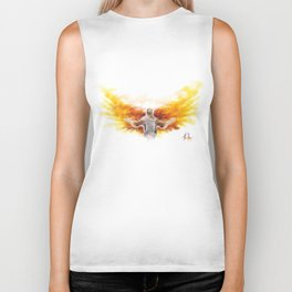 On Wings Like Eagles (Isaiah 40:31) Biker Tank