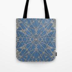 Snowflake Blue Tote Bag