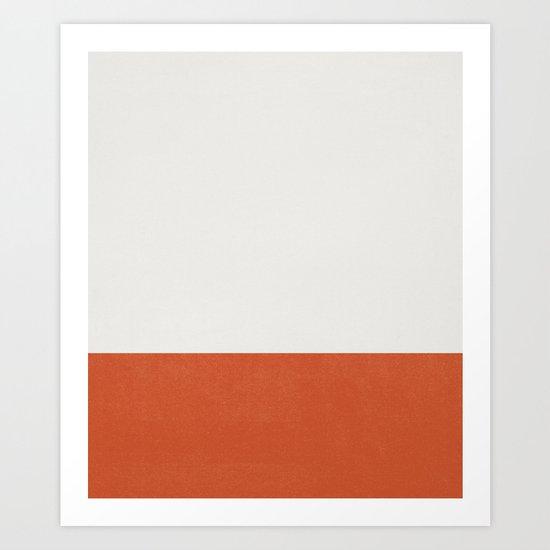 Burnt Orange Color Block by jennadavis
