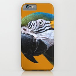 Macaw Parrot Photography | Exotic Bird | Tropical | Turquoise | Yellow | Art Print iPhone Case