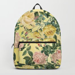 Vintage & Shabby Chic - Yellow Summer Roses Garden Backpack