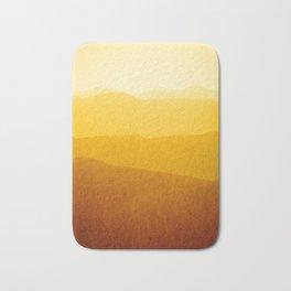 gradient landscape - sunshine edit Bath Mat