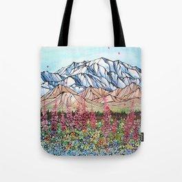Denali Fireweed Tote Bag