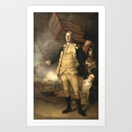 General Washington at the Battle of Princeton Art Print
