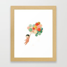 Wonderful Things Balloon Baby by Emily Winfield Martin Framed Art Print