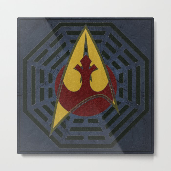 Lost Trek Wars: Square Variant Metal Print