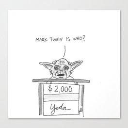 Yoda on Jeopardy  Canvas Print