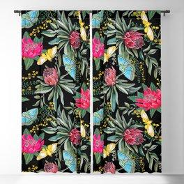 Protea flower botanical watercolor Blackout Curtain