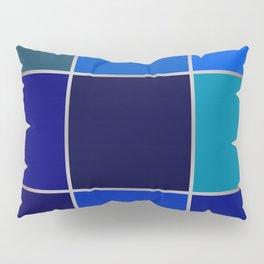 Cobalt , patchwork Pillow Sham