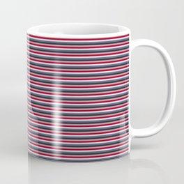 Blue, red, white stripes Coffee Mug