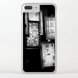 Grey Lanterns Clear iPhone Case