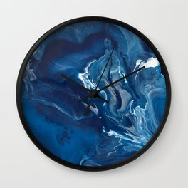 """Color Commentary #5: """"Undertow"""" (Blue & Grey) [Philip Earls] Wall Clock"""