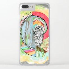 Owl Dreamcatcher Dream Clear iPhone Case
