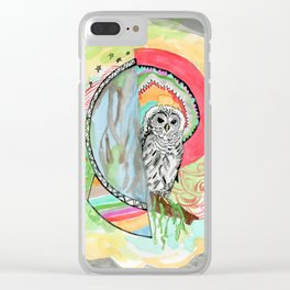 Owl Dreamcatcher Dream Clear iPhone Case