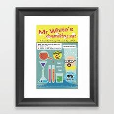 Walter White's Chemistry set V2 Framed Art Print