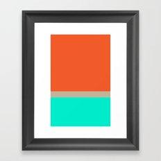 Orange Nastalgia  Framed Art Print