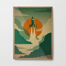The Voyage (Green) Metal Print