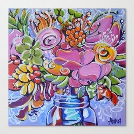 Graphic Floral 2 Canvas Print