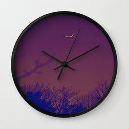 Fall Moon Wall Clock