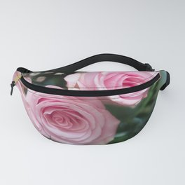 Light Pink Roses with bokeh Fanny Pack