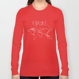 Explore World Map Long Sleeve T-shirt