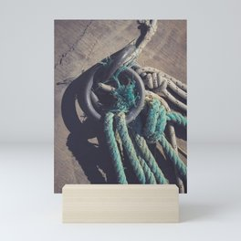 Concrete pier surface Mini Art Print