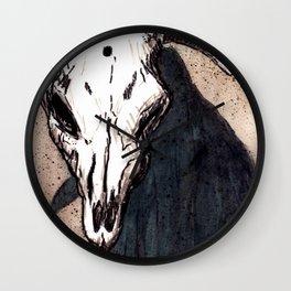 Corrales Cow Skull, Bullet Hole Wall Clock