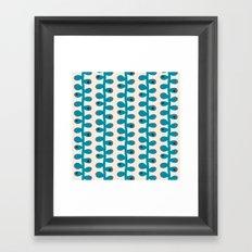 Like a Leaf [blue spots] Framed Art Print
