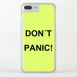 Don't Panic Clear iPhone Case
