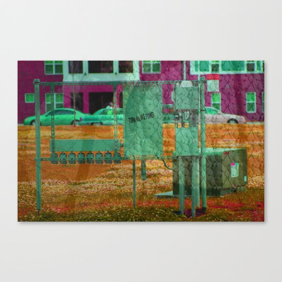 Turn on the Power Canvas Print