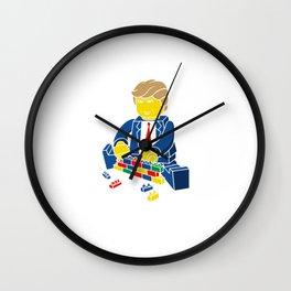 Trump Border Wall Political Wall Clock