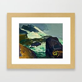 "George Wesley Bellows ""Rock Bound"" Framed Art Print"