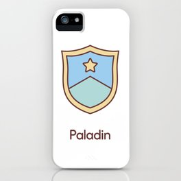 Cute Dungeons and Dragons Paladin class iPhone Case