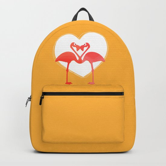 lovebirds - flamingos in love by vrijformaat