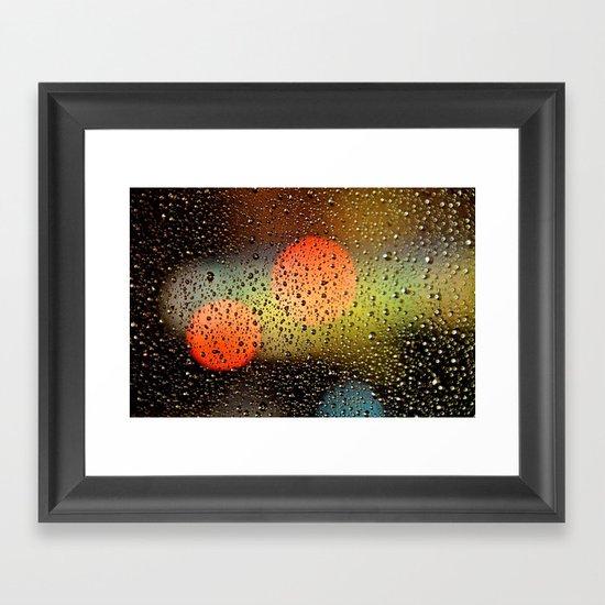 Rain Drops and Color Pops Framed Art Print