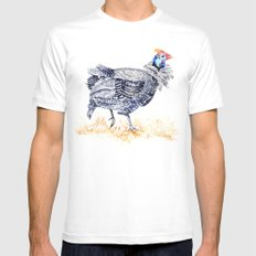 Guineafowl Mens Fitted Tee 2X-LARGE White