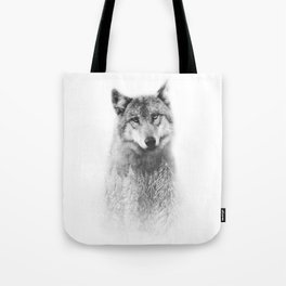 The Wolf and the Forest Tote Bag