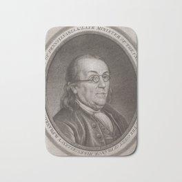 Vintage Portrait of Ben Franklin (1787) Bath Mat