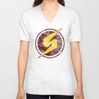 samus V-neck T-shirts featuring Samus Hero by Head Glitch